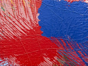 Robert Jaworski, Record red/blue VI, 2018