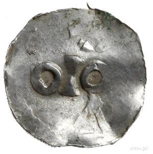 denar 1002-1014; Popiersie cesarza z brodą w prawo, HEI...