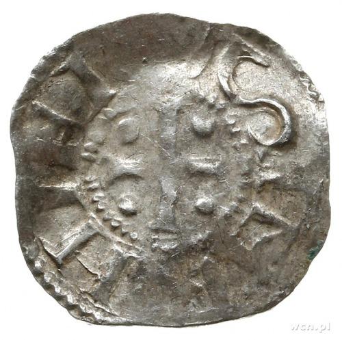 denar 1002-1024, Kolonia; Krzyż prosty z kulkami w kąta...