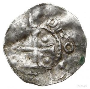 denar 1005-1046, Metz; Kaplica z kolumnami i klinami we...