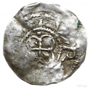 denar; Aw: Budowla w formie lilii, ERNOST DVX; Krzyż z ...