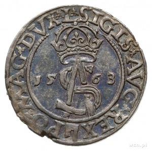 trojak 1563, Wilno; na awersie odmiana napisu SIGIS AVG...
