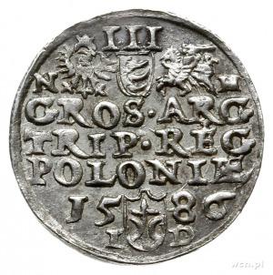 trojak 1586, Olkusz; odmiana z literą N obok Orła i lit...