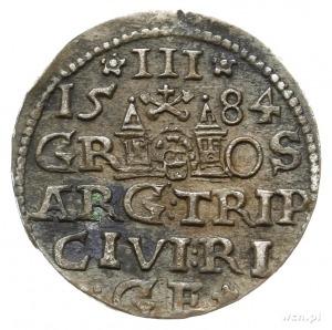 trojak 1584, Ryga; końcówka napisu na awersie P D L; Ig...