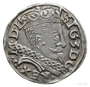 trojak 1597, Lublin; na rewersie monogram Melchiora Rey...