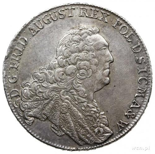 talar 1763, Drezno; Aw: Popiersie w prawo i napis wokoł...
