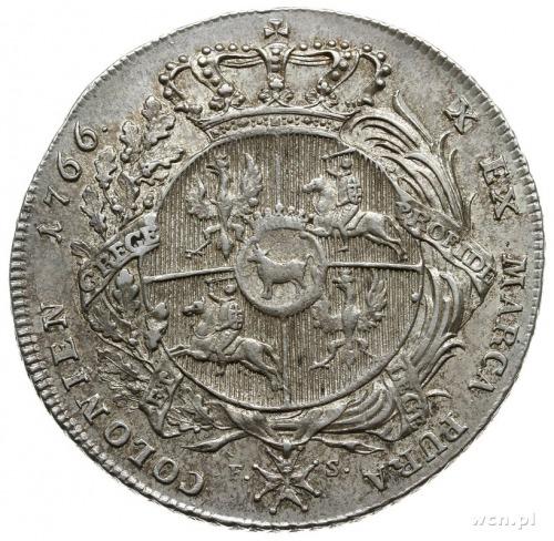 talar 1766, Warszawa; popiersie króla w zbroi, bez krop...