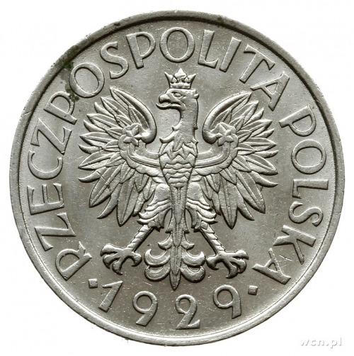 1 złoty 1929 Warszawa; Parchimowicz 108; rzadka w tak p...
