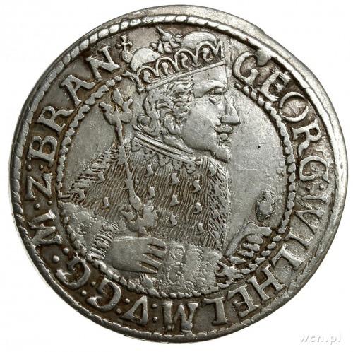 ort 1624, Królewiec; popiersie w płaszczu elektorskim i...