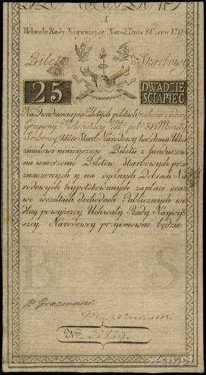 25 złotych 8.06.1794, seria A, numeracja 32829, częścio...