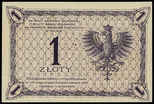 1 złoty 28.02.1919, seria 36 E, numeracja 005349; Lucow...