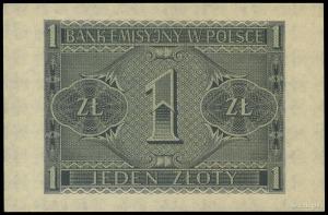1 złoty 1.03.1940, seria C, numeracja 6160815; Lucow 76...