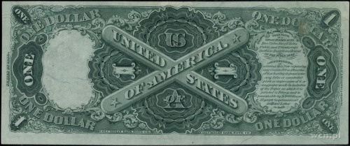 Legal Tender Note; 1 dolar 1880, numeracja Z9869645, po...