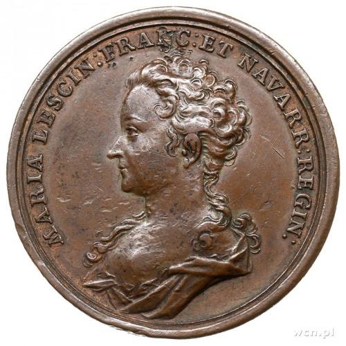 medal z 1725 roku autorstwa Georga Wilhelma Vestnera, w...