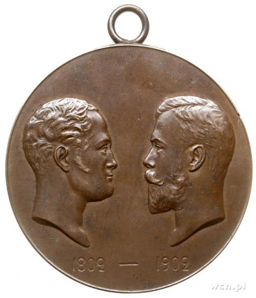 medal z 1902 roku autorstwa A. Vasyutinski'ego wybity n...