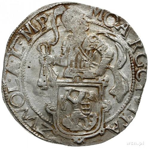 talar lewkowy (Leeuwendaalder) 1653, rycerz stojący w l...