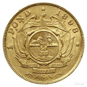 Republika Boerów 1837-1910; funt (1 pond) 1898, prezyde...