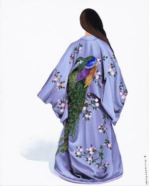 Marta Achtabowska, Kimono z pawiem, 2019