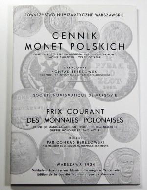 Konrad Berezowski, Cennik Monet Polskich