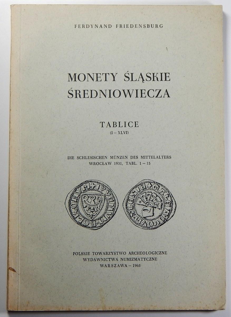 Ferdynand Friedensburg, Monety śląskie średniowiecza