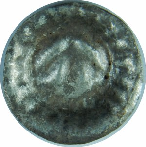 Pomorze Zachodnie, Strzałów około 1250-1325, Brakteat - Grot strzały, promienie na wale otokowym