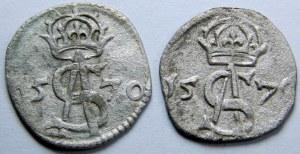 Zygmunt II August, Dwudenar Wilno 1570 – zestaw (szt.2)