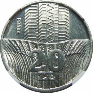 Próba Nikiel 20 złotych 1973 Wieżowiec i Kłosy