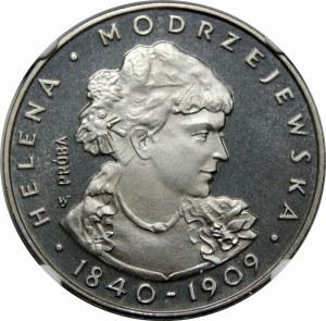Próba Nikiel 100 złotych 1975 Helena Modrzejewska