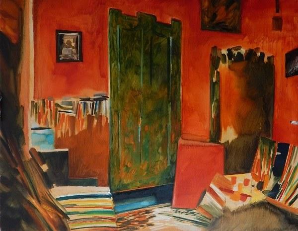 """Michał Cander, """"Czerwone wnętrze"""""""