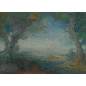 Jerzy KOŻUCHOWSKI (1893-1967), Pejzaż nad rzeką