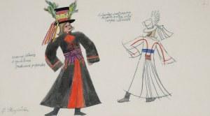 Zofia STRYJEŃSKA (1891-1976), Projekt kostiumu - z cyklu