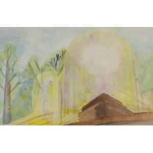 Doren HEATON-POTWOROWSKA (1930-2014), Krajobraz z fontanną