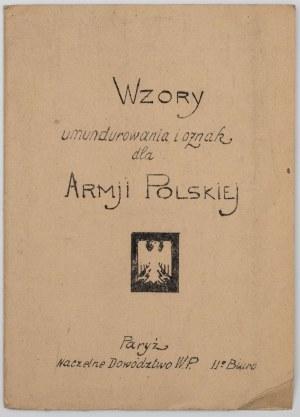 WZORY UMUNDUROWANIA I OZNAK DLA ARMJI POLSKIEJ, 1939