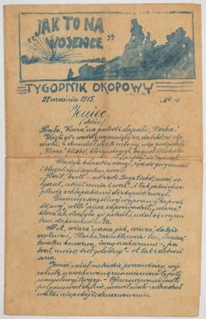 TYGODNIK OKOPOWY, nr 4, 21.09.1915