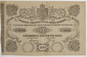 OBLIGACJA TYMCZASOWA POŻYCZKI OGÓLNEJ NARODOWEJ, Powstanie Styczniowe, 1863