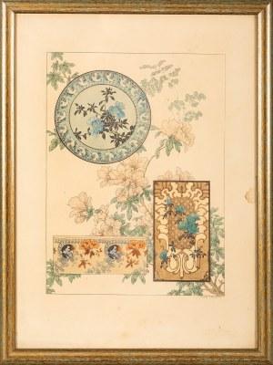 Henry Lambert, (XIX-XX w.), Ornament floryczny, k. XIX w