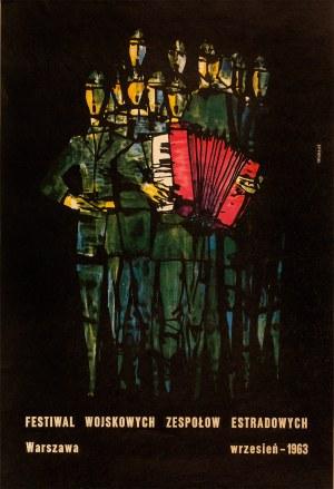 Roman Opałka, (1931-2011), Plakat Festiwal Wojskowych Zespołów Estradowych