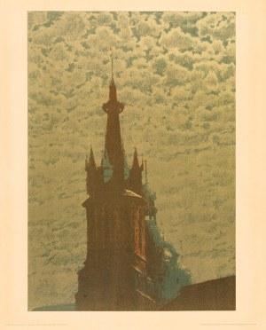 Józef Rapacki, (1871-1929), Wieże kościoła Mariackiego w Krakowie, przed 1914