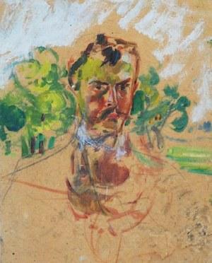 Wlastimil Hofman (1881-1970), Autoportret, ok.1910