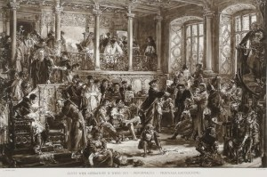 Jan Matejko (1838 - 1893), Złoty wiek literatury w wieku XVI - Reformacya - Przewaga Katolicyzmu