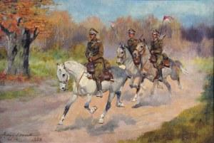 Jerzy Kossak (1905-1995), Ułani na koniach, 1930