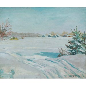 Alfred Terlecki (1883-1973), Pejzaż zimowy, 1947