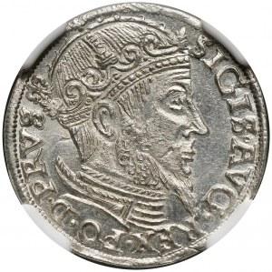 Zygmunt II August, trojak 1557, Gdańsk