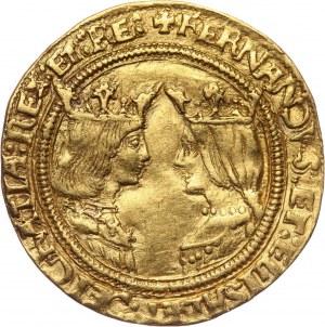 Hiszpania, Ferdynand V i Izabela I, 2 Excelentes bez daty (1476-1516) T, Toledo