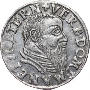 Śląsk, Księstwo Legnicko-Brzesko-Wołowskie, Fryderyk II, trojak 1544, Brzeg