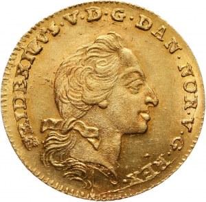 Dania, Fryderyk V, 12 marek (kurant dukat) 1761 W, Kopenhaga