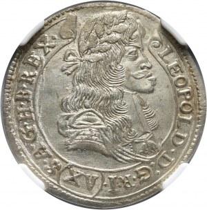 Węgry, Leopold I, 15 krajcarów 1684 KB, Kremnica