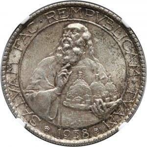 San Marino, 20 lirów 1938 R, Rzym