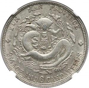 Chiny, Yunnan, 50 centów bez daty (1908)
