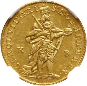 Węgry, Karol VI, dukat 1737/6 KB, Kremnica